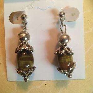 Jewelry - Pick 2 for $20 Brown tiger eye dangle earrings